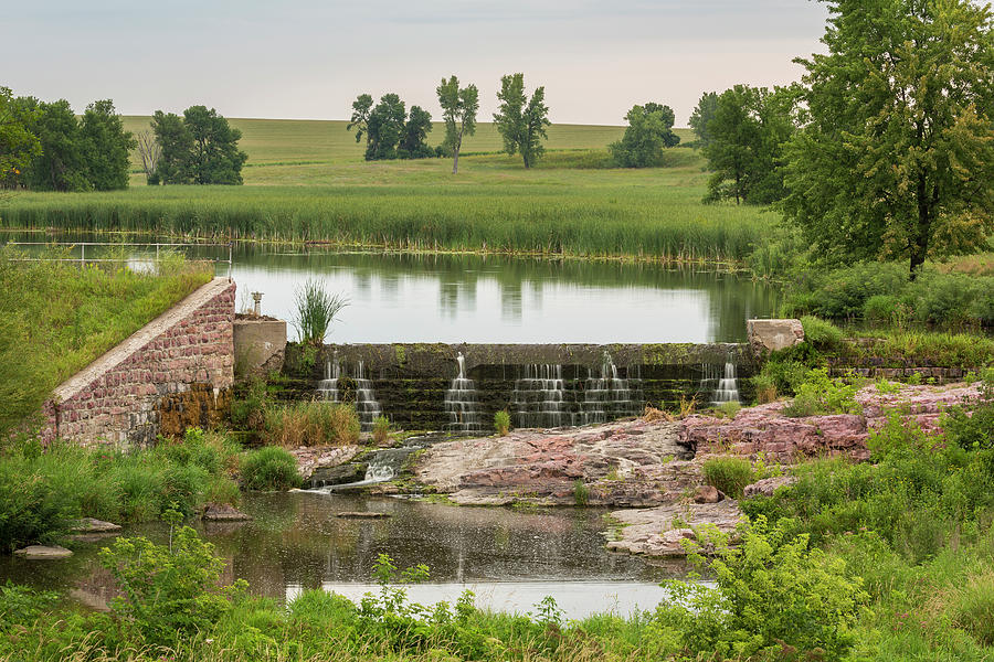 Dam Photograph - Mound Lake Dam 1 by John Brueske