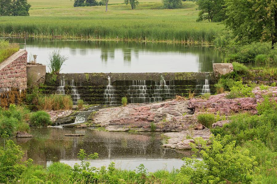 Dam Photograph - Mound Lake Dam 2 by John Brueske