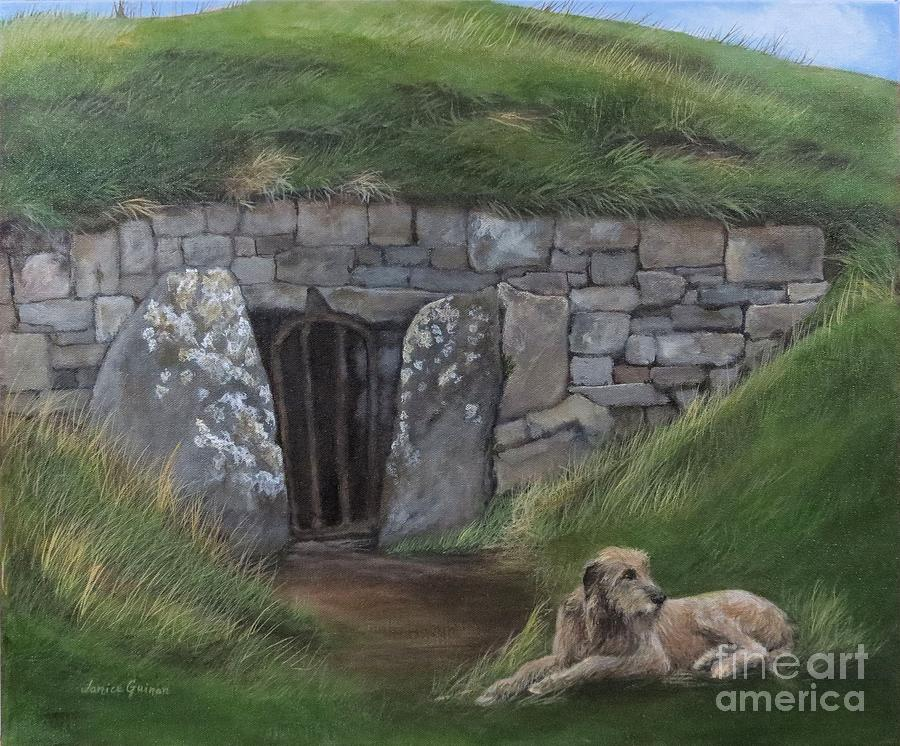 Mound Of The Hostages Painting - Mound Of The Hostages  Hill Of Tara  Ireland by Janice Guinan