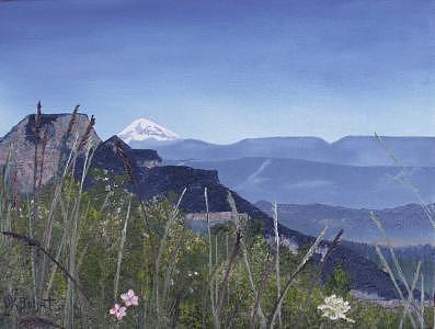 Mount Adams Painting by Darla Boljat