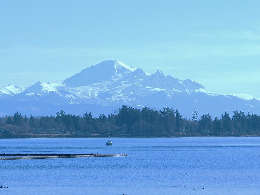 Mount Baker From The Spit Photograph by James Johnstone