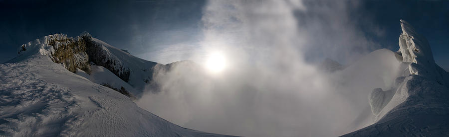 Mount Photograph - Mount Baker Summit Crater by Alasdair Turner