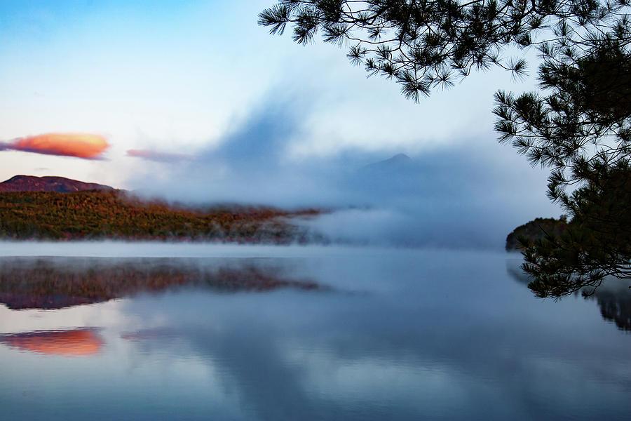 Chocorua Lake Photograph - Mount Chocorua Peeks Above The Fog by Jeff Folger