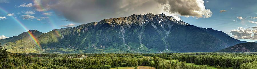 Mount Currie in the enchanting Pemberton Valley with double Rainbow by Pierre Leclerc Photography