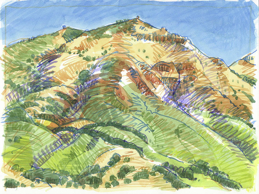 Mount Diablo From Curry Valley Ridge Painting by Judith Kunzle