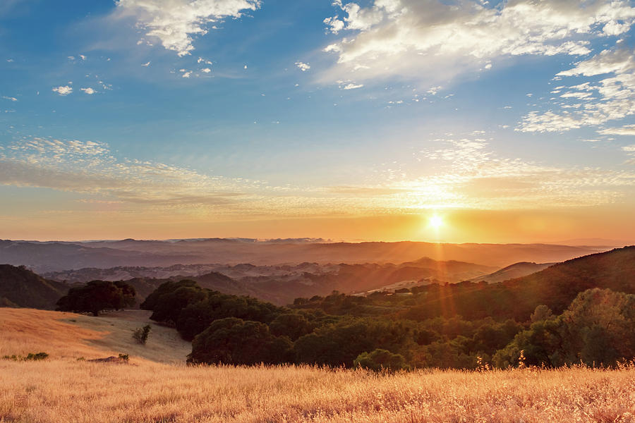 Mount Diablo Sunset by Geoffrey Lewis