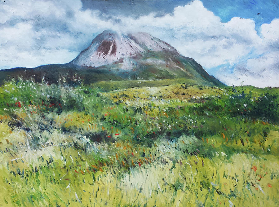 Landscapes Painting - Mount Errigal County Donegal Ireland 2016 by Enver Larney