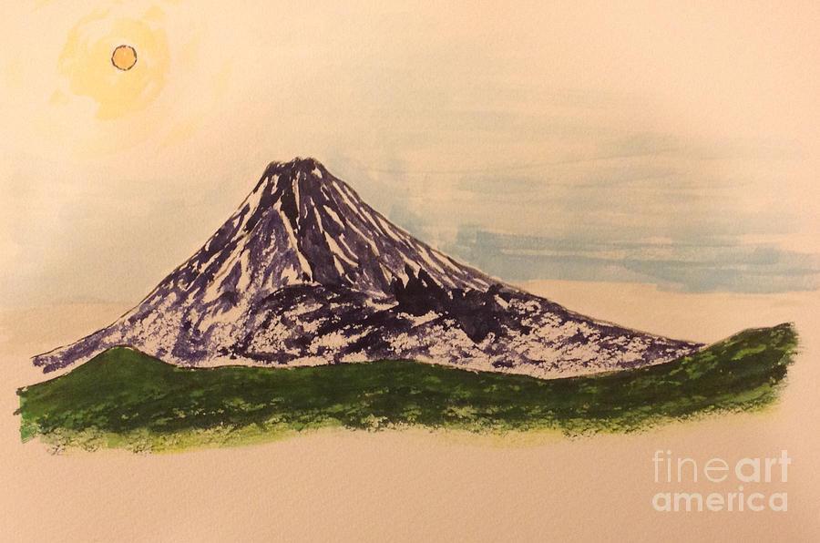 Mount Fuji and Power of Mystery Painting by Sawako Utsumi