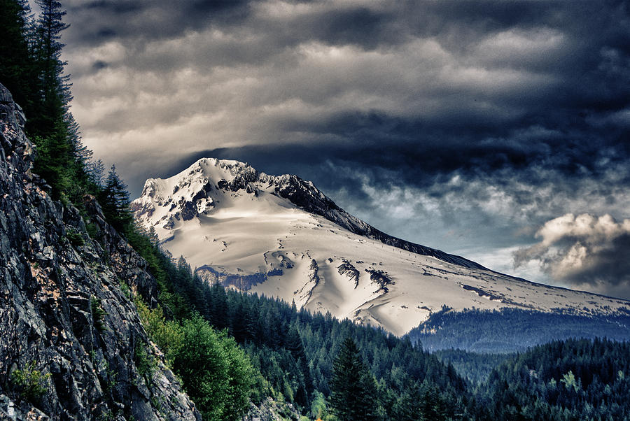 Mount Mixed Media - Mount Hood Dynamic by John Winner