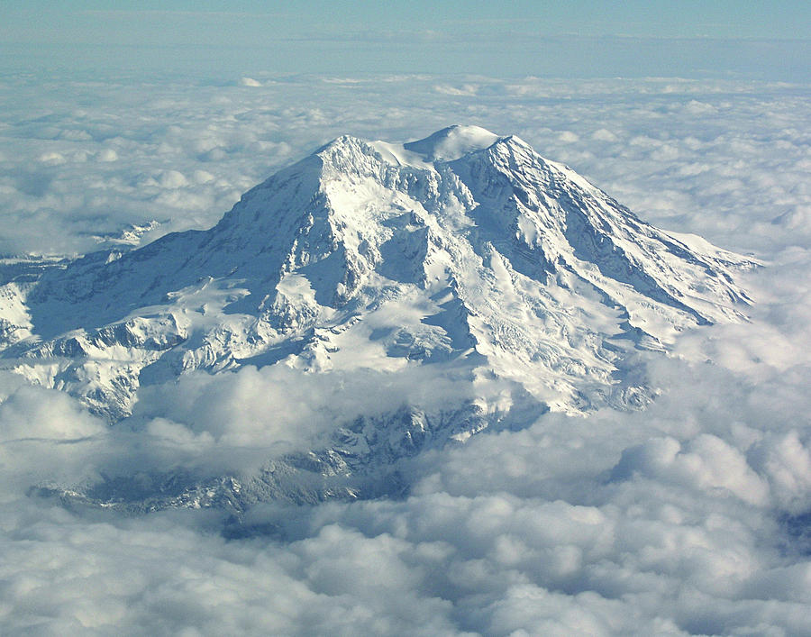 Mt Hood Photograph - Mount Hood From Above by Helaine Cummins