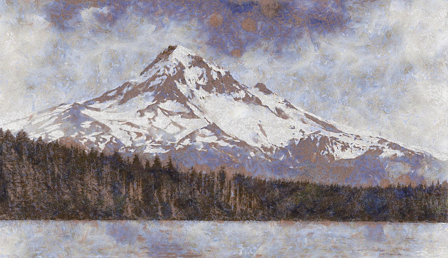 Mount Photograph - Mount Hood From Lost Lake by John Winner