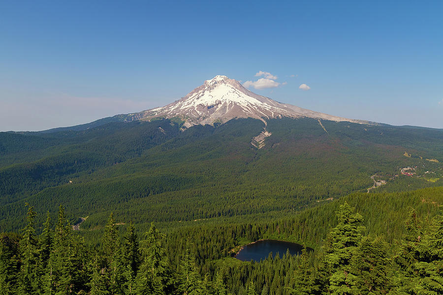 Mount Hood Photograph - Mount Hood Over Mirror Lake by David Gn