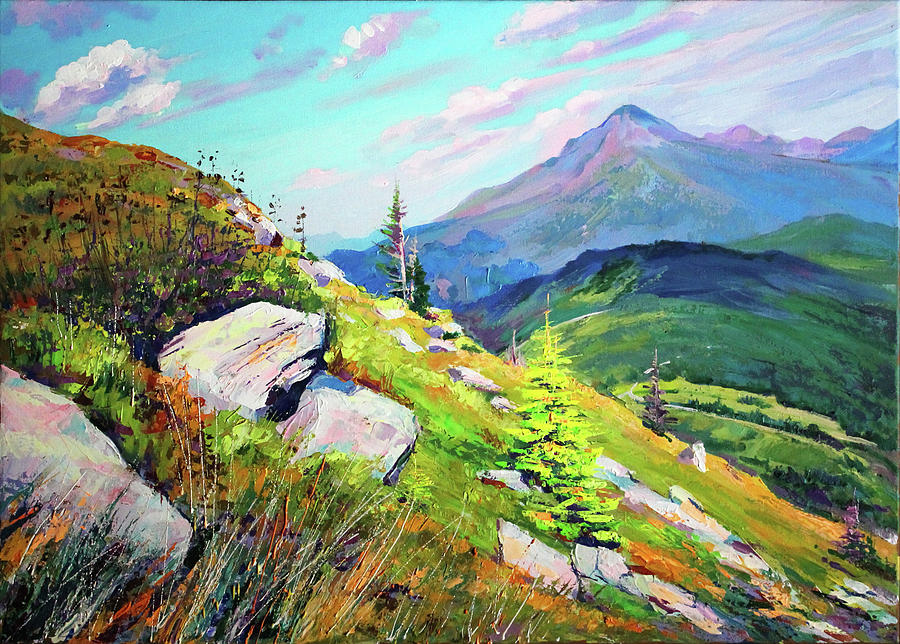 Mountains Painting - Mount Hoverla by Bohdan Saliy