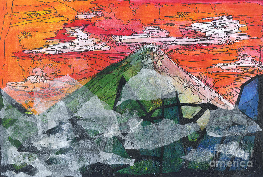 Mountain Mixed Media - Mount Improbable by Jessica Browne-White