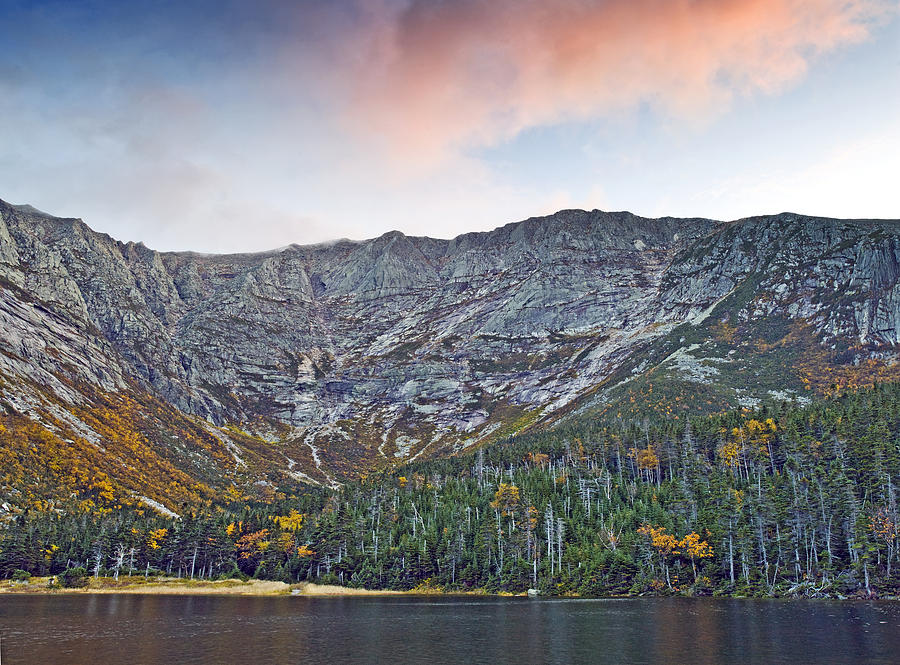 Katahdin Photograph - Mount Katahdin From Chimney Pond In Baxter State Park Maine by Brendan Reals