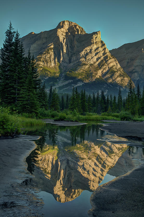 Mount Kidd Reflection by Ward Cameron