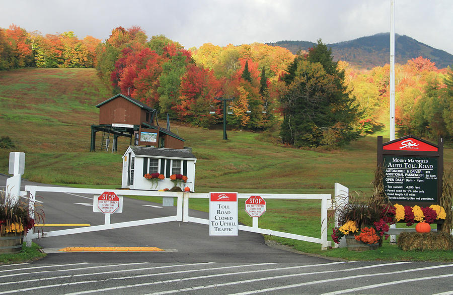 Mount Mansfield Auto Toll Road In Fall Photograph