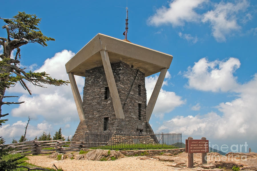 Adventure Photograph - Mount Mitchell Summit Tower by Steven Dillon
