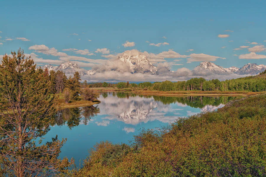 Landscape Photograph - Mount Moran On Oxbow Bend by Brian Harig