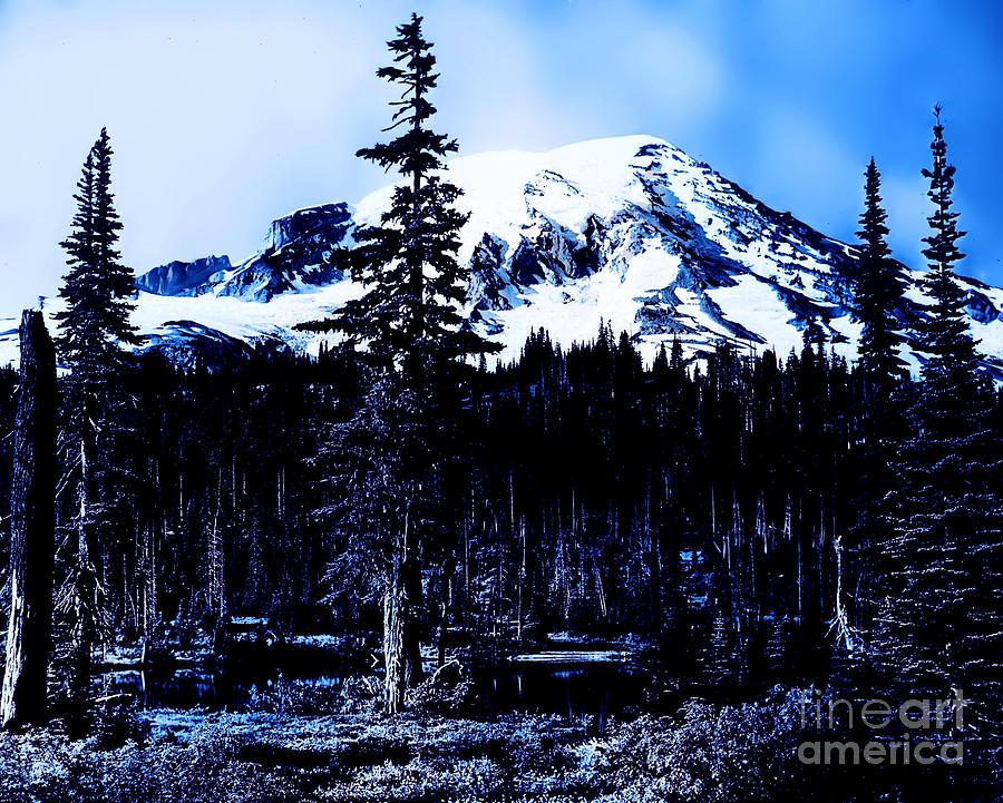 Landscapes Photograph - Mount Rainier Blue... by Eddie Eastwood