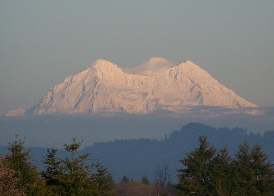 Digital Photography Photograph - Mount Rainier February Ninth by Laurie Kidd