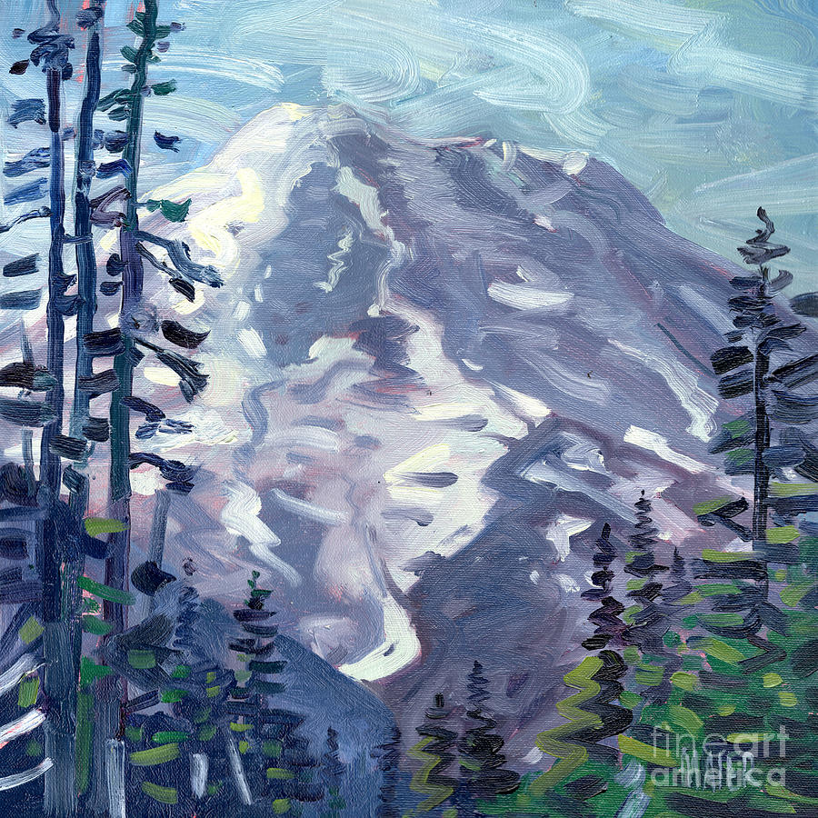 Mt. Rainier Painting - Mount Rainier From Sunrise Point by Donald Maier