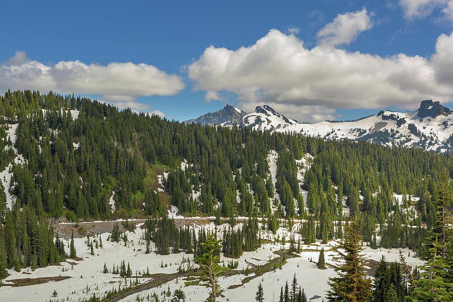 Mount Rainier Photograph - Mount Rainier National Park Tatoosh Range by David Gn