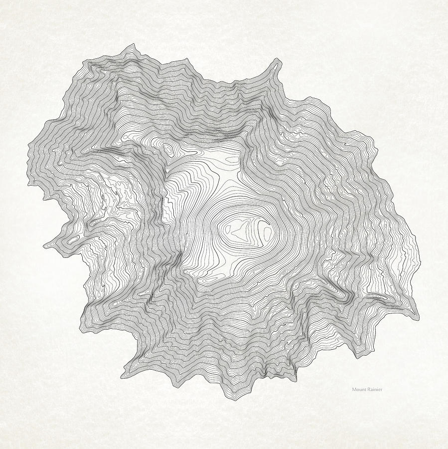 It is an image of Massif Mt Rainier Drawing