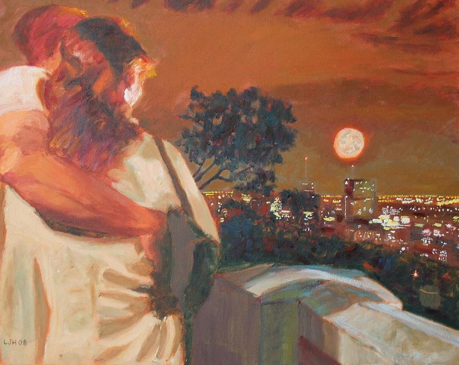 Lovers Painting - Mount Royal Lovers by Larry Herscovitch