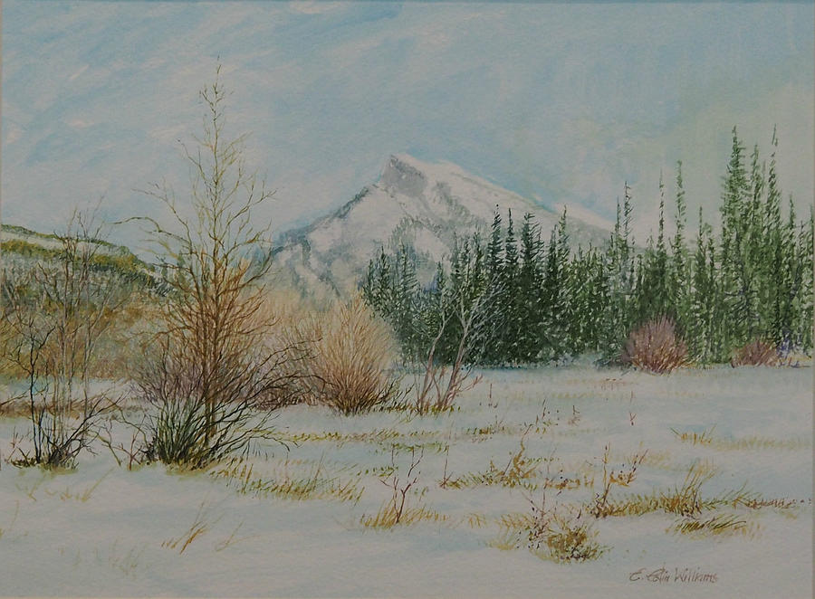 Mount Rundle in Winter by E Colin Williams ARCA