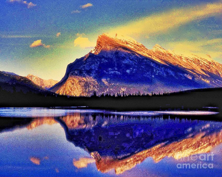 Rockies Photograph - Mount Rundle Reflection by Lyle  Huisken