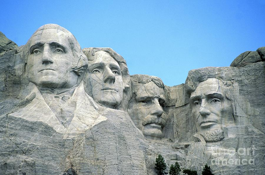 Mount Photograph - Mount Rushmore by American School