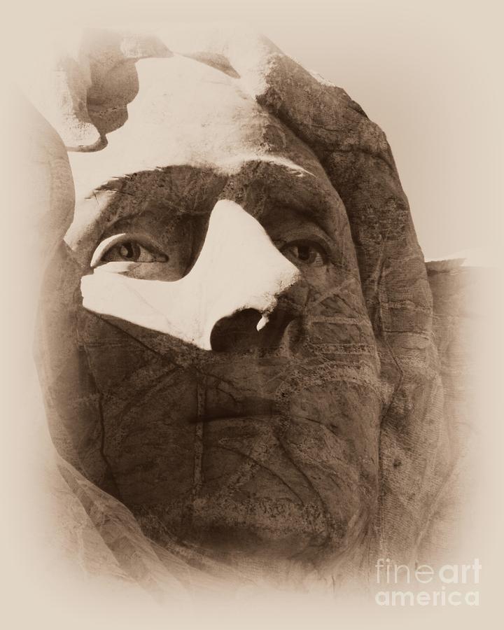 Mount Rushmore Faces Jefferson Photograph