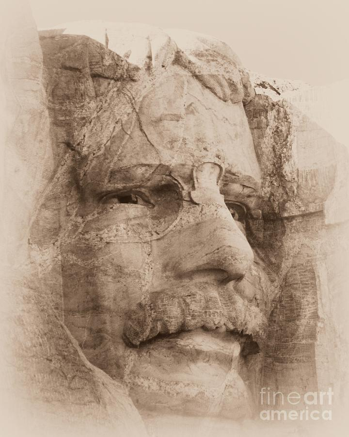 Mount Rushmore Faces Roosevelt Photograph
