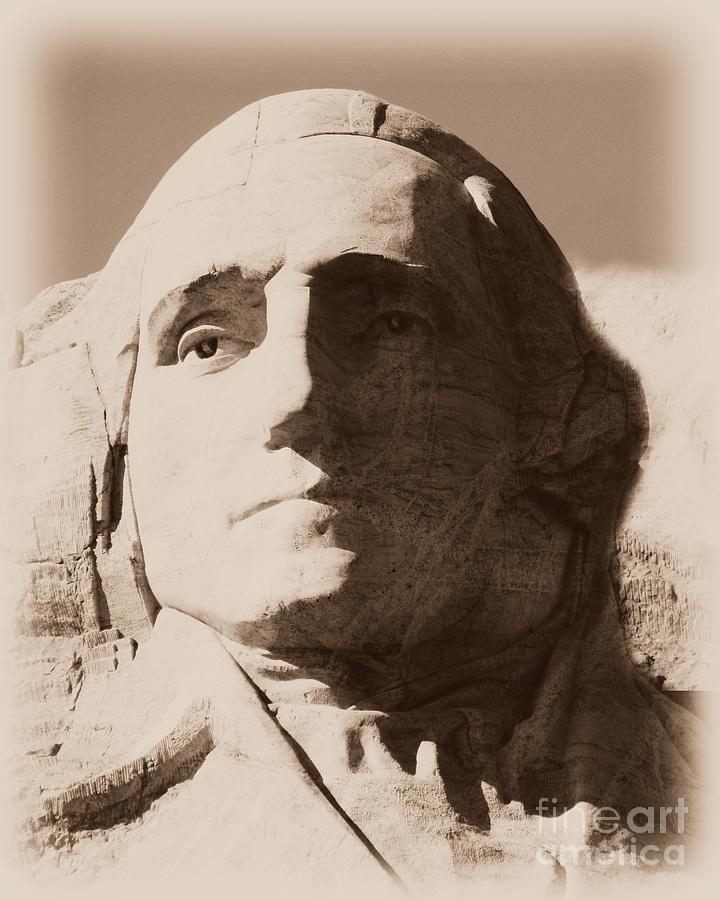 Mount Rushmore Faces Washington Photograph