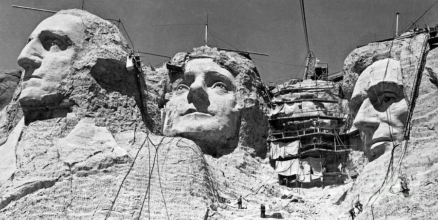 Mount Rushmore Photograph - Mount Rushmore In South Dakota  by American School