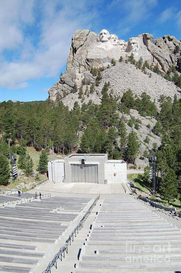 South Dakota Photograph - Mount Rushmore National Monument Amphitheater South Dakota by Shawn OBrien