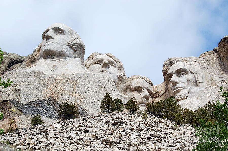 South Dakota Photograph - Mount Rushmore National Monument Overhead South Dakota by Shawn OBrien