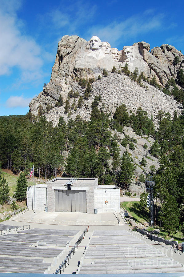 South Dakota Photograph - Mount Rushmore National Monument Overlooking Amphitheater South Dakota by Shawn OBrien