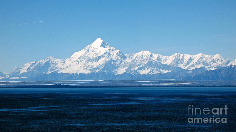 Mount Saint Elias. Yakutat Bay Seascapes Photograph by Connie Fox