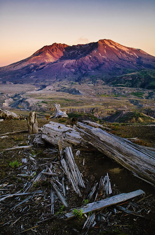 America Photograph - Mount St. Helens Sunset by Greg Vaughn - Printscapes