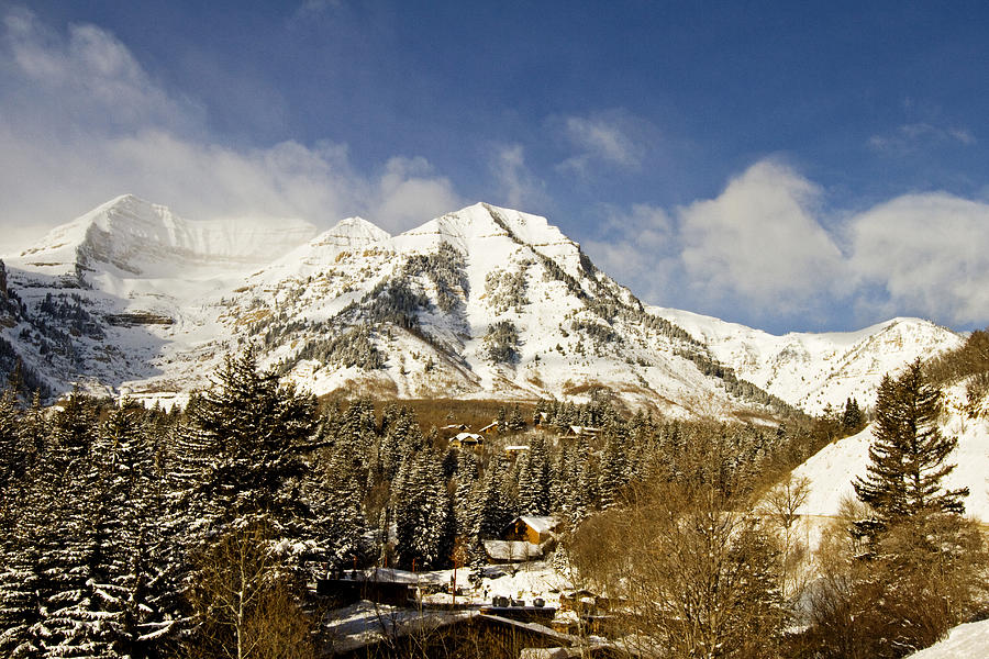 Mountain Photograph - Mount Timpanogos by Scott Pellegrin