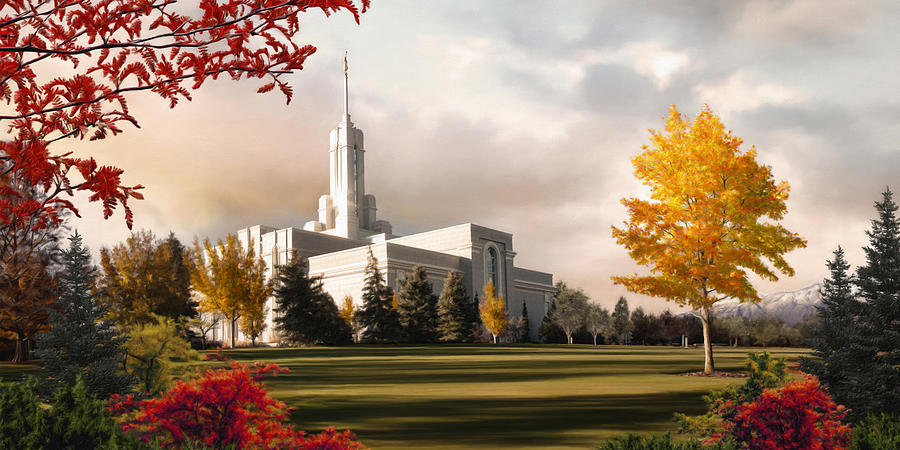 Mount Painting - Mount Timpanogos Temple #2 by Brent Borup