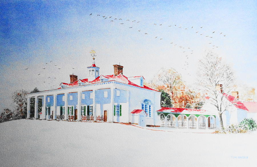Mount Vernon In The Snow Ii Painting By Tom Harris