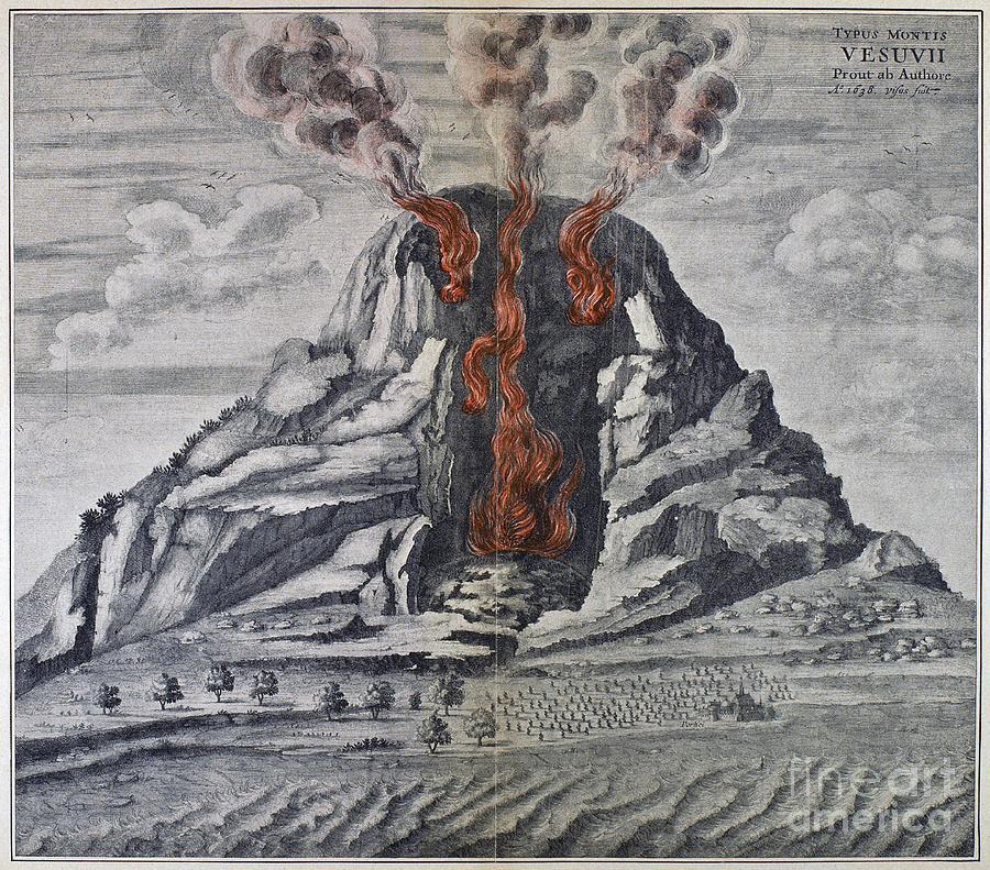 1665 Photograph - Mount Vesuvius, 1665 by Granger