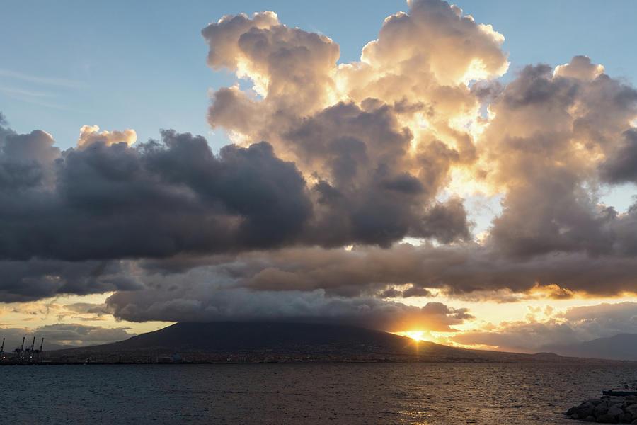 Mount Vesuvius Powerful Sunrise by Georgia Mizuleva
