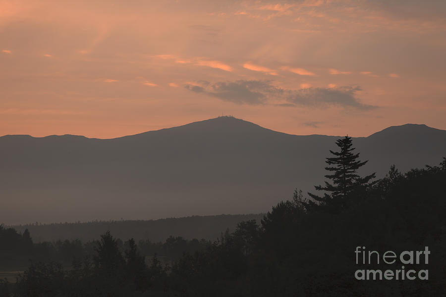 Silhouette Photograph - Mount Washington - Bretton Woods New Hampshire Usa by Erin Paul Donovan