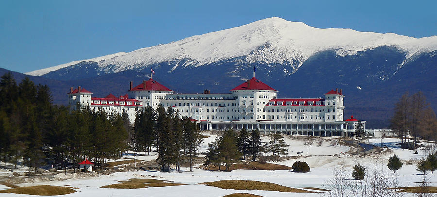 Mount Washington Hotel in early spring by Nancy Griswold