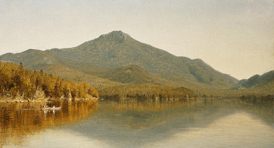 Mount Whiteface From Lake Placid Painting by Albert Bierstadt