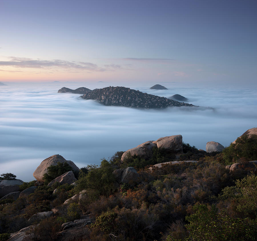 San Diego Photograph - Mount Woodson Above Clouds by William Dunigan